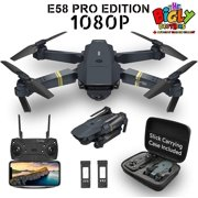 The Bigly Brothers E58 PRO Edition 1080P Drone with Camera 120 Wide Angle, Gesture Control, Altitude Hold, 1 Key