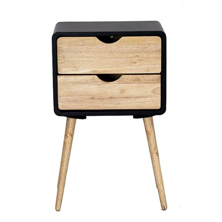Heather Ann Creations Euro 2 Drawers End Table