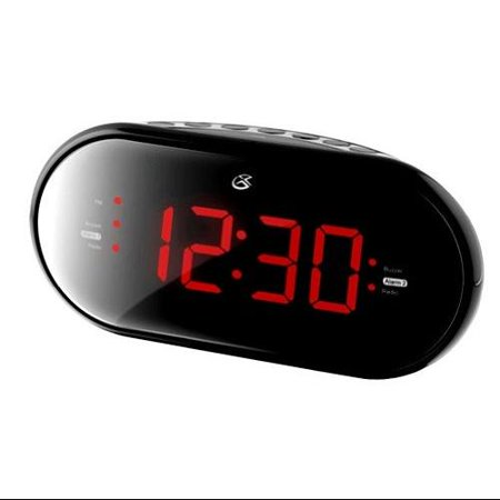 gpx gpxc253bb gpx c253b dual alarm clock radio. Black Bedroom Furniture Sets. Home Design Ideas