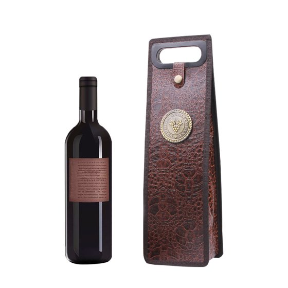 Wine Bags Of Gift Bo Red Collapsible Leather Bag
