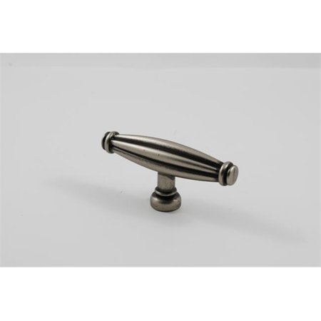 Residential Essentials 10213AP T-Handle Cabinet Knob, Aged Pewter