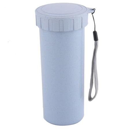 Unique Bargains Office Plastic Water Tea Drink Holder Bottle Mug Cup Light Blue 400ml