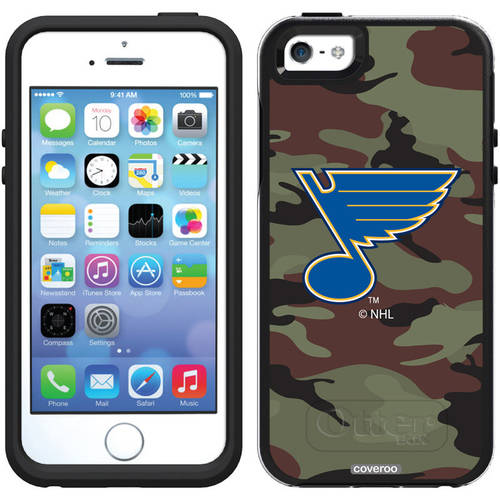 St. Louis Blues Traditional Camo Design on OtterBox Symmetry Series Case for Apple iPhone 5/5s