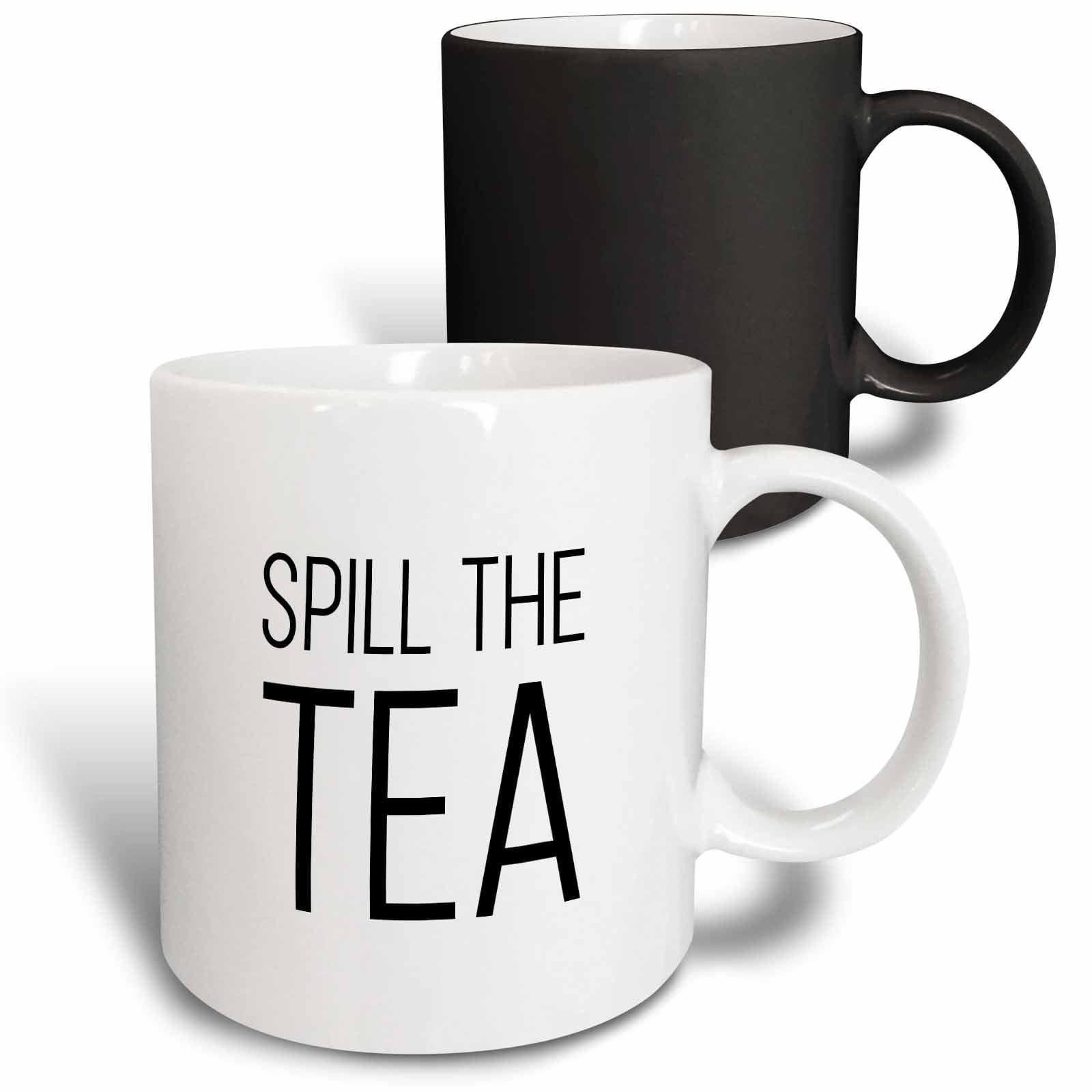 3drose Spill The Tea Magic Transforming Mug 11 Ounce Walmart Com Walmart Com