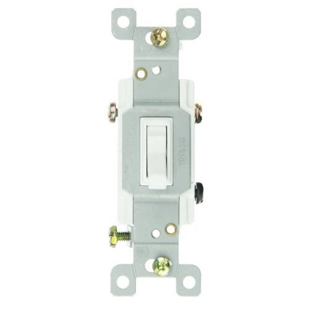 Sunlite E507 3 Way Grounded Toggle Switch, White ()