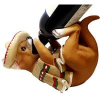 KITCHEN DECOR PONCHO VINO CHIHUAHUA DOG WINE BOTTLE HOLDER FIGURINE STATUE