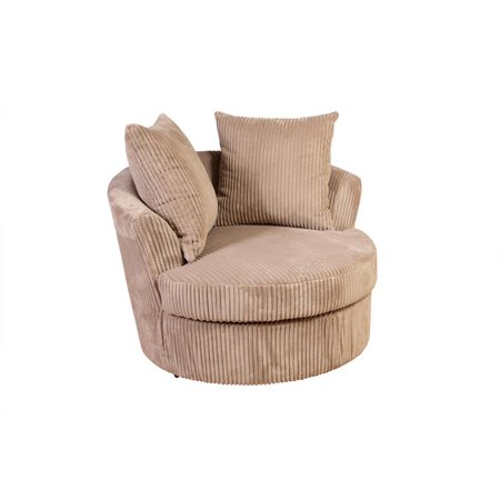 Admirable Largo Cuddler Microfiber Swivel Chair Tan Pdpeps Interior Chair Design Pdpepsorg