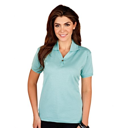 Tri-Mountain Gold Arcadia 442 Double Mercerized Cotton Polo Shirt, 2X-Large, Aqua