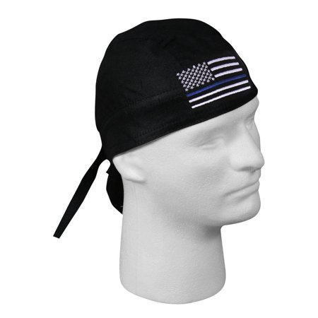 Rothco Thin Blue Line Flag Headwrap for Police, Law