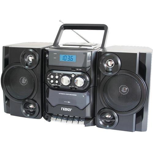 Naxa NPB428 Portable CD/MP3 Player with AM/FM Radio, Detachable Speakers, Remote and USB Inputs