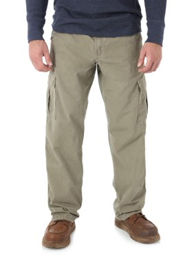 Wrangler Men's Rip-Stop Cotton Cargo Pants, Relaxed Fit