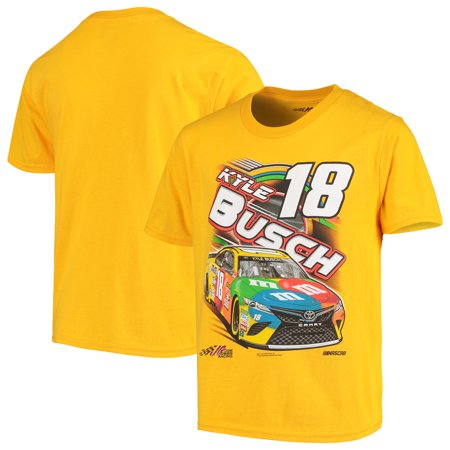 Kyle Busch Youth Power Car T-Shirt - Yellow