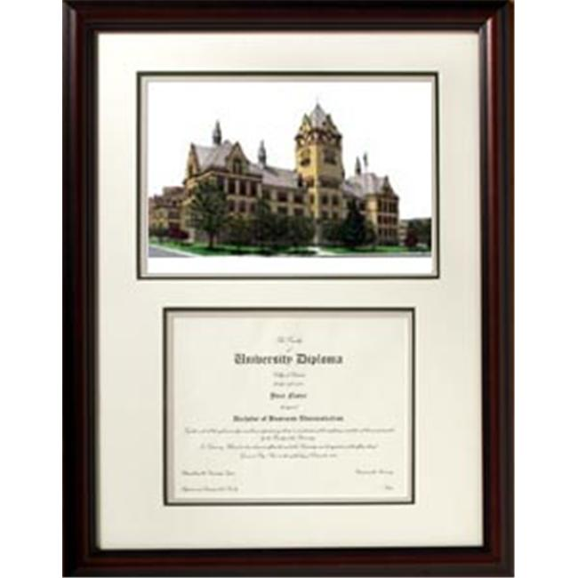 Campus Images MI983V 14'' x 10'' Wayne State University Lithograph Frame