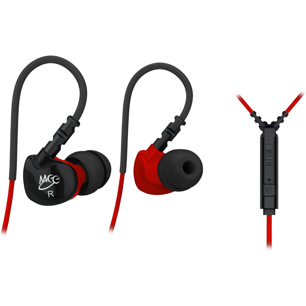 MEElectronics S6P Noise Isolating In-Ear Earphone w/ Microphone/Remote/Volume Control (Red)