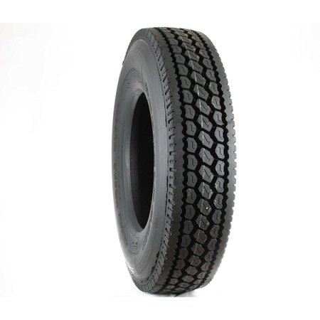 Double Coin RLB400 Closed Shoulder Drive-Position Commercial Radial Truck  Tire - 285/75R24 5 14 ply