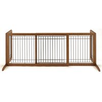 "Richell Freestanding Dog Gate, Brown, Large, 71.30""L x 17.70""W x 20.10""H"