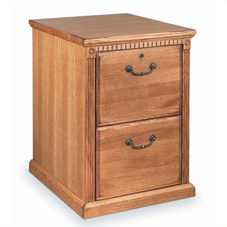 Martin Furniture Huntington Oxford 2 Drawer Vertical File Cabinet in Distressed Wheat Oxford File Cabinets