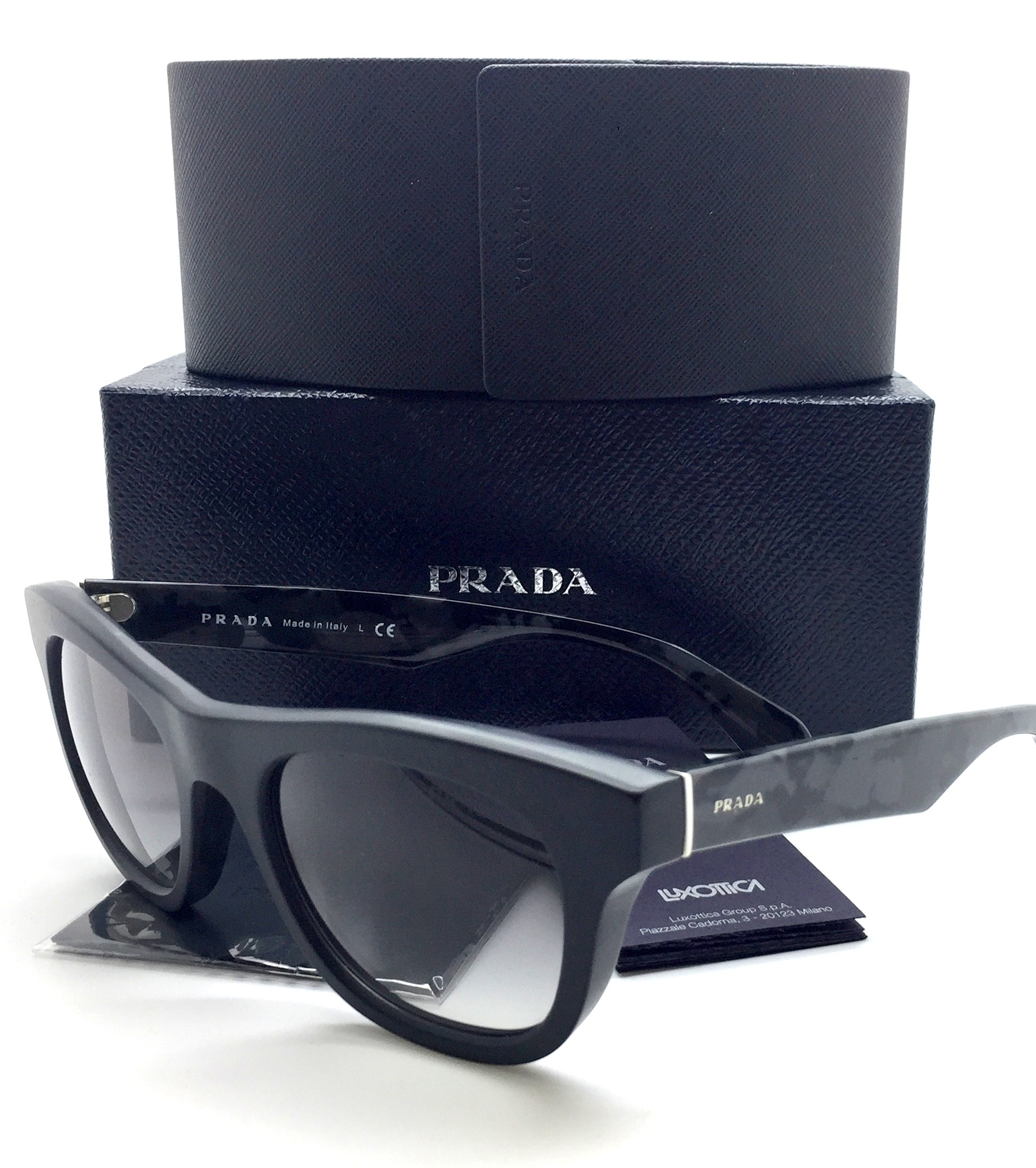 2dffccf773d17 Prada New Authentic Gray Black Camouflage Men Sunglasses SPR 04Q 1BO 0A7 52  21 145