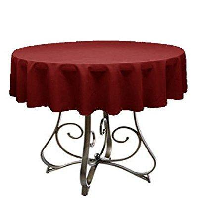 by florida tablecloth factory round 60 tablecloth home line indoors (burgundy)