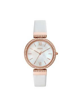 b1fd79a895a0 Product Image Fossil Women s Madeline White Leather Watch (Style  ES4581)