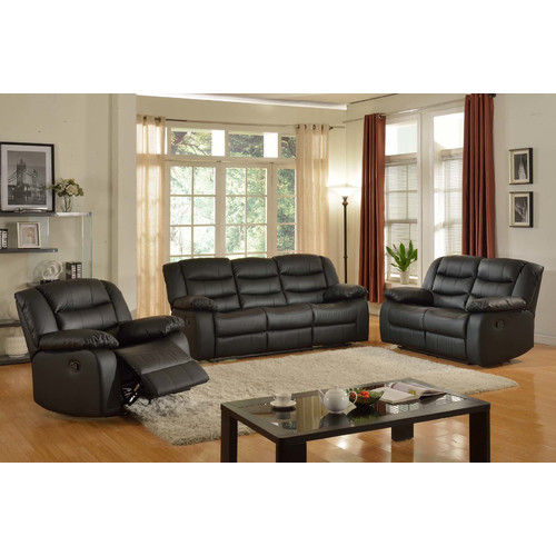 Red Barrel Studio Koury Reclining 3 Piece Living Room Set