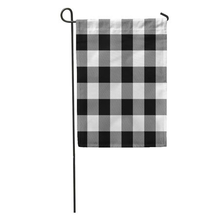 LADDKE Buffalo Lumberjack Plaid Pattern Check Black Casual Checkered Flannel Jacket Garden Flag Decorative Flag House Banner 12x18 - Cheer Flannel