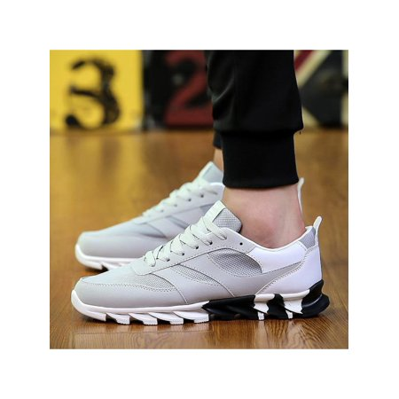 b667e2abb Fashion Mens Running Sports Shoes Athletic Sneakers Outdoor Casual  Breathable Canvas Shoes - Walmart.com