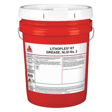 CITGO 655344001044 Grease, Lithoplex RT, Red, 35 lb.