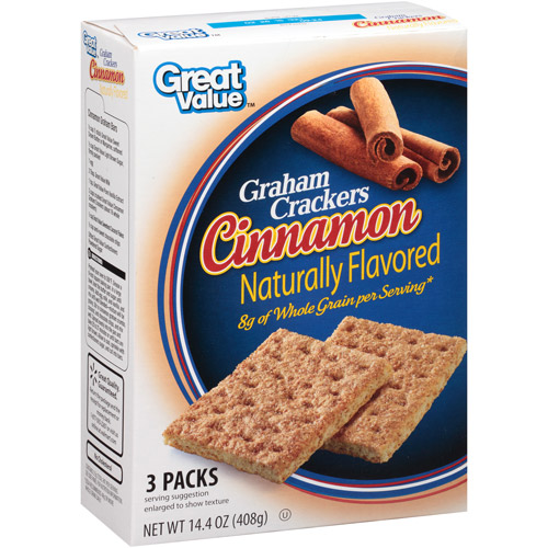 Great Value: Cinnamon Grahams Crackers 3 Packs, 14.4 Oz