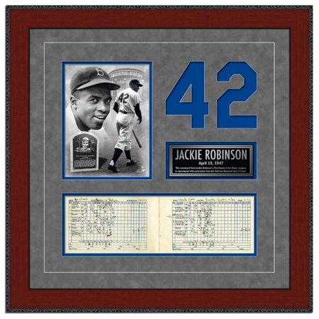 Brooklyn Dodgers Photo - Photo File Brooklyn Dodgers Jackie Robinson Framed MLB First Game Scorecard NY