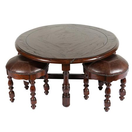Marvelous Eastern Legends 65318 5 Piece Burgundy Coffee Table Set 21 X 42 X 42 In Caraccident5 Cool Chair Designs And Ideas Caraccident5Info