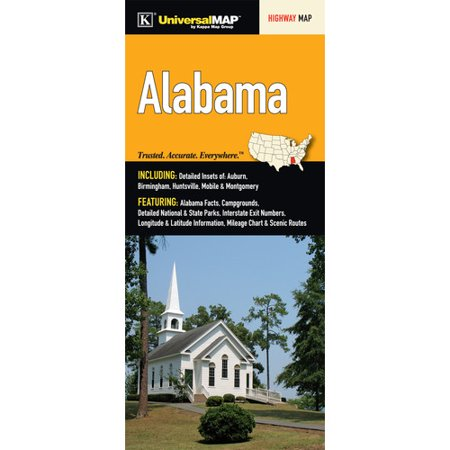 Universal Map Alabama Fold Map  Set Of 2