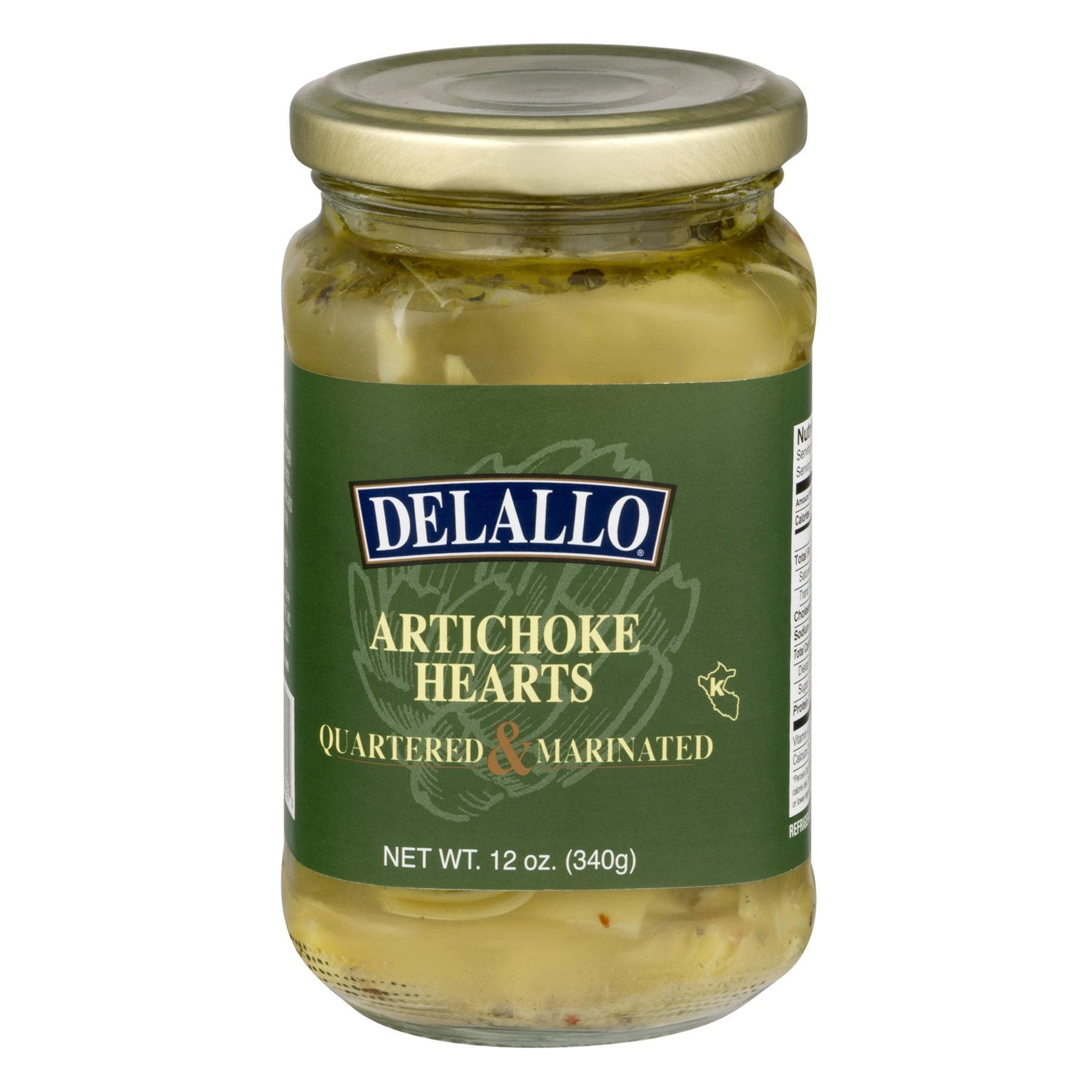 (6 Pack) Delallo Artichoke Hearts Quartered & Marinated, 12 Oz