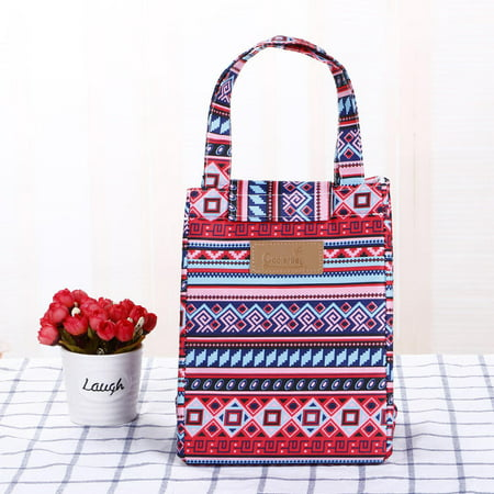 Heavy-Duty Insulated Patterned Nylon Lunch Bag Aztec (Pattern Lunch)