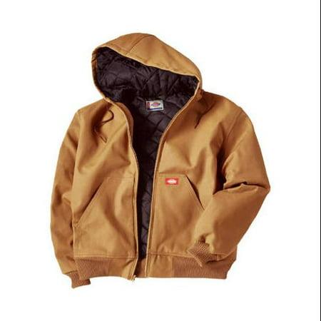 Dickies TJ718BDM Hooded Jacket-MED BROWN HOODED JACKET