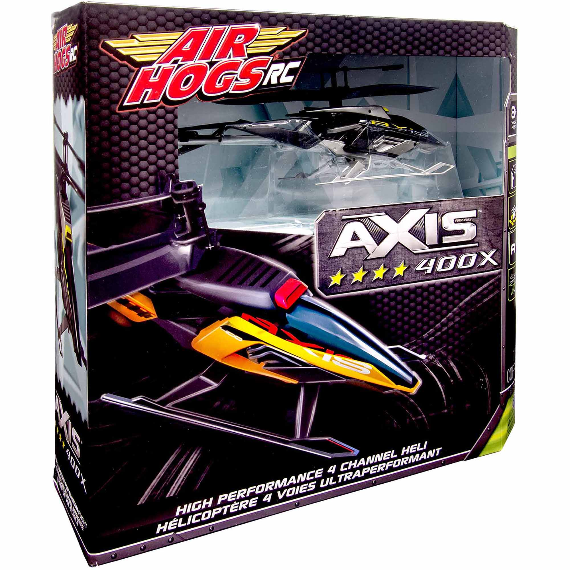 Air Hogs RC Axis 400x R/C Helicopter- in colors Black/Silver & Black/Orange