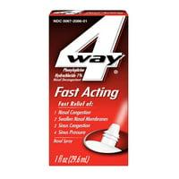 4Way Fast Acting Nasal Spray for Nasal & Sinus Congestion 1 oz