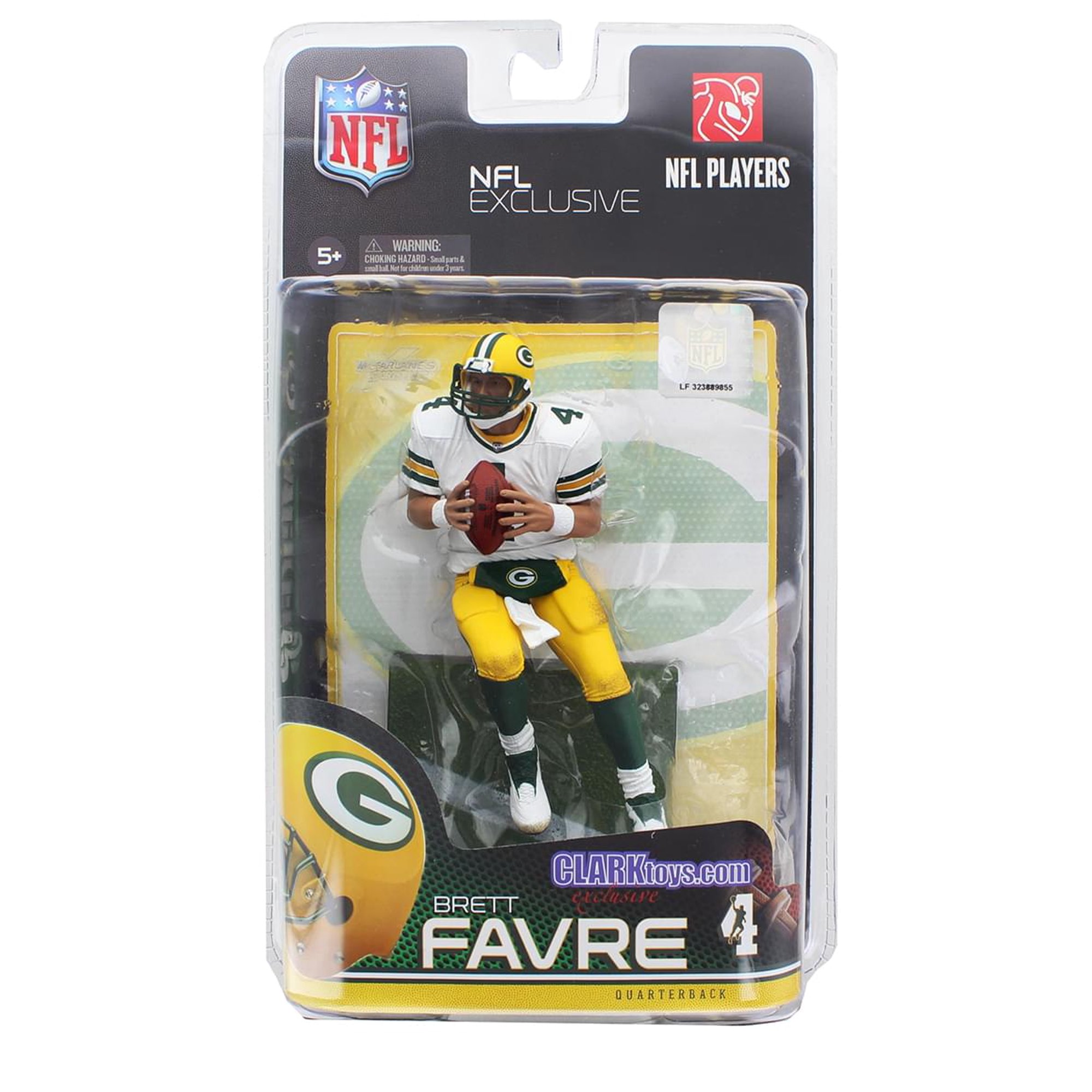 sneakers for cheap 5f84a 551bd Green Bay Packers NFL Figure: Brett Favre, White Jersey (CLARKtoys  Exclusive)