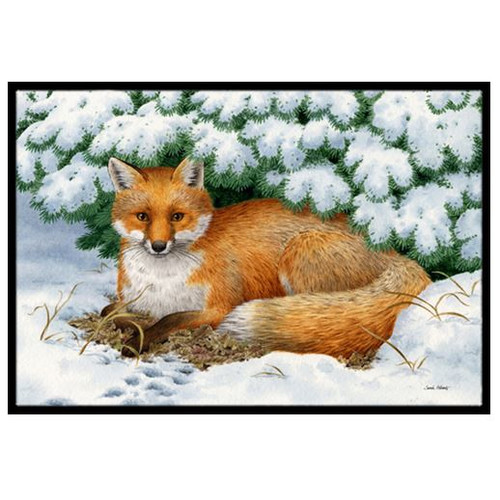 Winter Fox Doormat by Caroline's Treasures