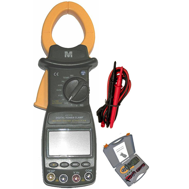 Morris Products Cat III TRMS Auto Ranging Digital Power Clamp Meter