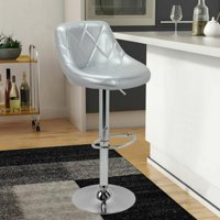 Bar Stool Chair Dining Counter Bar Pub- Set of 2 Silver