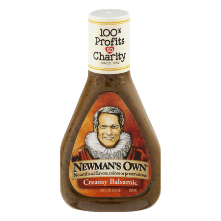 (2 Pack) Newmans Own Creamy Balsamic Dressing, 16
