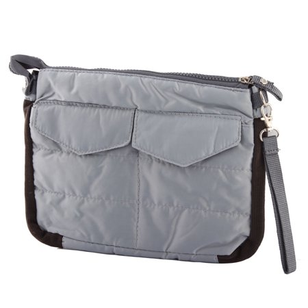 Gray Tablet Ipad Pocket Insert Handbag Gadget Pouch Organizer Purse Bag