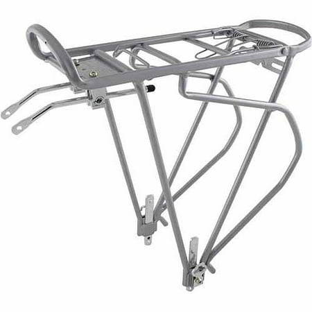 O-stand Tall Desktop Literature Racks - O-Stand Traveler Silver Alloy Pannier Rack