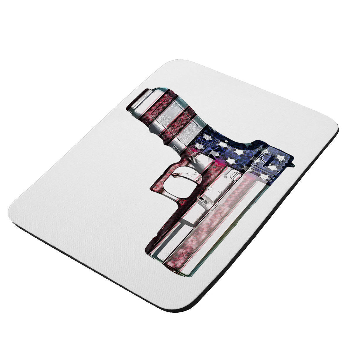 American Flag Gun Rights  - KuzmarK Mousepad / Hot Pad / Trivet