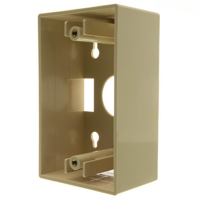 CableWholesale 300-625IV Single Gang Surface Mount Box, Ivory