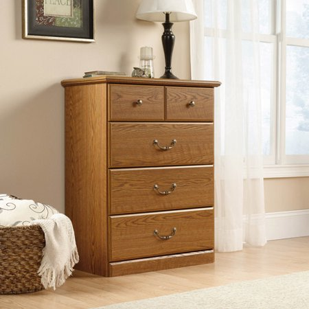 Sauder Orchard Hills 4-Drawer Chest, Carolina Oak