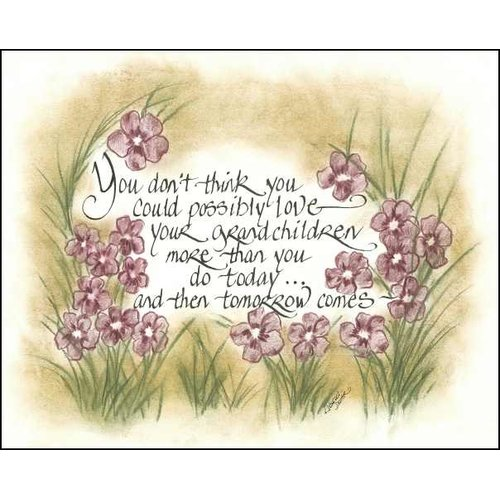 LPG Greetings Life Lines You Think You Can't   Grandchildren by Lori Voskuil-Dutter Graphic Art Plaque
