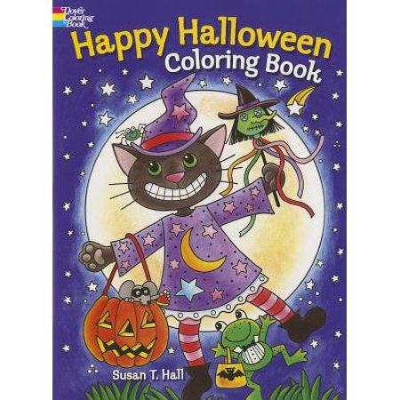 Happy Halloween Coloring Book - Halloween Books For Kindergarteners