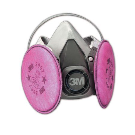3M Reusable Half Facepiece Respirators 6000 Series Medium, Each